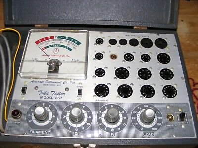 Vintage Accurate Instrument Co Tube Tester Model 257 w/Manual & Supplement Works