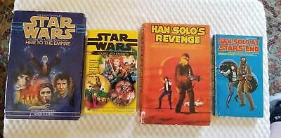 4 STAR WARS Mixed Lot Books Han Solos Revenge, Heir To The Empire