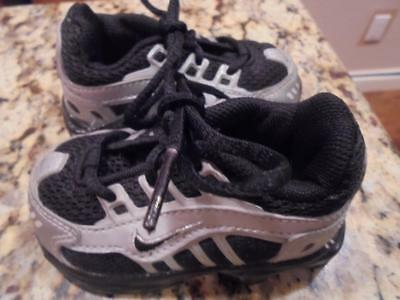 765f2717528734 Toddler boys Nike Shox athletic shoes size 3 black silver so cute~low  shipping