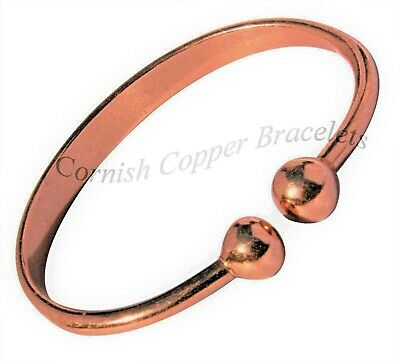 254007510f7 Solid Copper MAGNETIC TORQUE Bracelet Bangle Pain Relief Arthritis MB1S -  SMALL