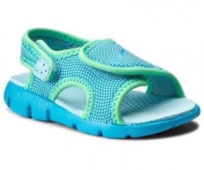 cfdfe2d60254 Nike Sunray Adjust 4 (TD) 386521-404 Chlorine Blue Toddler Girls Shoes  Sandals