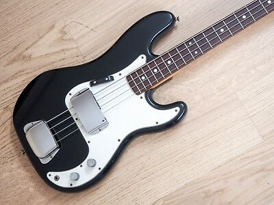 1977 Greco P Bass PB420 Vintage Electric Bass Guitar Black Japan Fujigen
