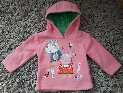 Mothercare Baby Girls Peppa Pig Quality Hoodie Hooded Top Age 6/9 Months Pink