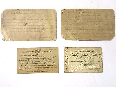 1918 and 1942 Selective Service Cards for Same Person WW I & WWII Classification