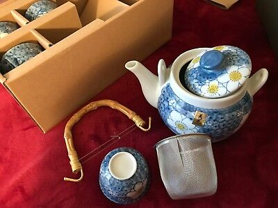 Japanese  ARITA Ware  Tea Set  Brand New 1 Pot 4 cups