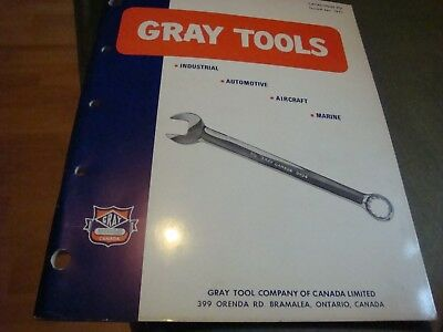 Gray Catalog Tools Year 1971  Original 95 Pages Mint