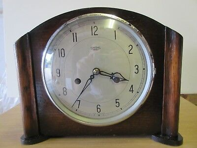 Vintage Smiths Enfield Striking Mantle Clock TLC