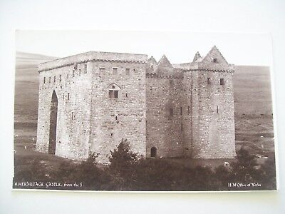 Hermitage Castle from the South. H.M. Office of Works Card.