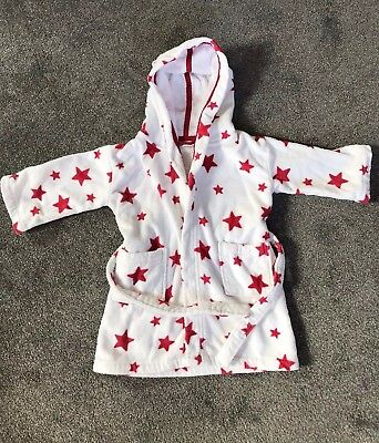 Little White Company Unisex Dressing Gown, 18-24 Months, 100%cotton