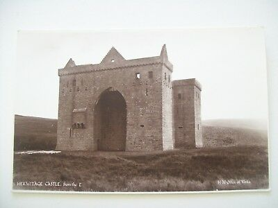Hermitage Castle from the East. H.M. Office of Works Card.