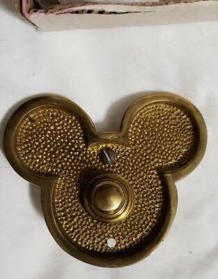 Used Disney Mickey Mouse Head Home Doorbell - House Door Bell with Box
