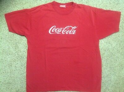 Coca Cola vintage tee shirt mens size XL red The Coca Cola Co. brand nice DEAL