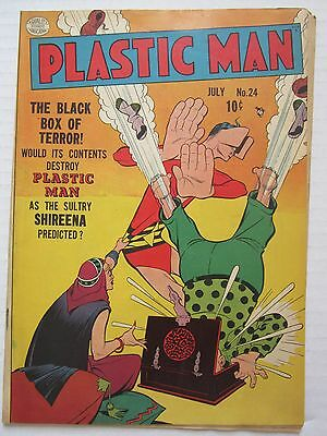 Scarce Plastic Man (1943 Vital/Quality) #24 GD/VG