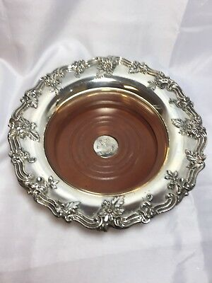 Vintage IFS Ltd. Silverplated Wine Coaster Made In England, Heavy