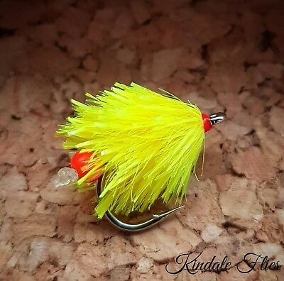 Neon Sweetcorn Egg Laying Blobs Size 10 wide Gape (Set of 3) Fly Fishing Buzzers