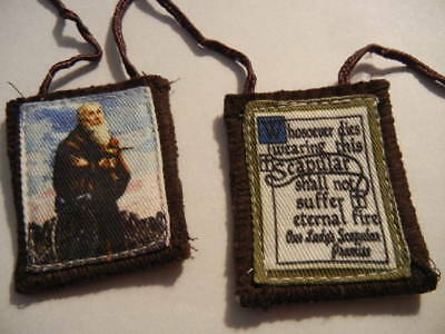 St. Benedict Brown Scapular New! Cords Fraying