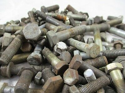 Huge Lot Of 175 Pieces Heavy Hex Head Bolts  Steel Assorted Size Length