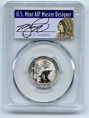 2018 S 25C Silver Reverse Proof Pictured Rocks PCGS PR70 FS Thomas Cleveland
