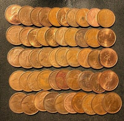 Old Great Britain Coin Lot - Half Pence - 50 High Grade Coins - Lot #110