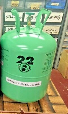 Refrigerant 22, r22 Disposable Cylinder, 10 lb, Virgin R-22, Free Shipping - BC