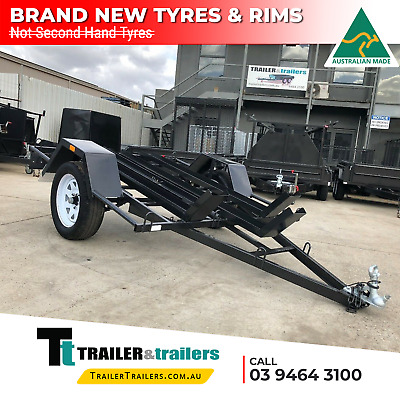 6x4 SINGLE AXLE LIGHT DUTY MOTORBIKE TRAILER | 3 BIKE CHANNELS |NEW WHEELS+SPARE