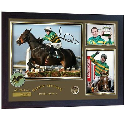 AP McCoy Limited Edition signed Horse Racing photo Jockey Tony McCoy Framed