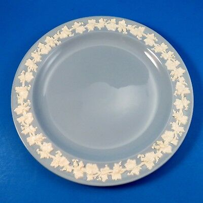 Blue Embossed Queensware Wedgwood Dinner Plate 9 7/8""