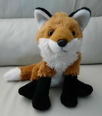 "Red Fox Stuffed Animal - Plush - Realistic Look - Wild Republic - Sitting 12"" -"