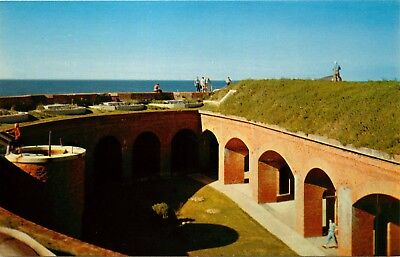 Ships Island, Mississippi, MS, Fort Massachusetts, Chrome Vintage Postcard d3789
