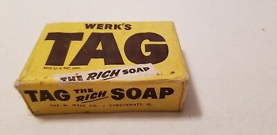 Vintage/Antique/Old bar soap TAG Brand