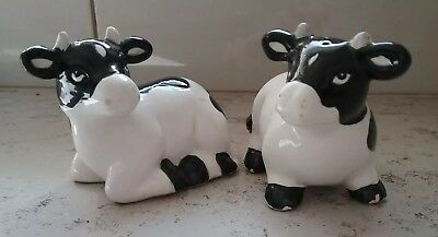 Cow Salt And Pepper Shakers Black & White