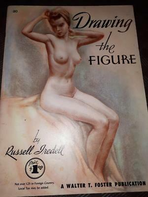 DRAWING the FEMALE FIGURE *Nude *By Russell Tredell *How To *1950s  #122