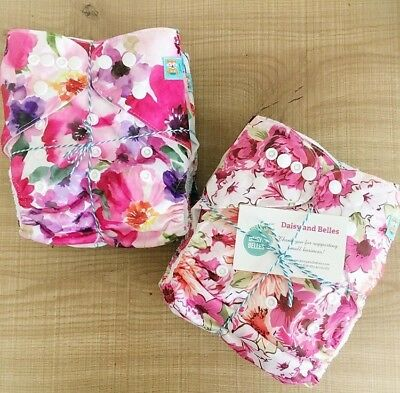Alva Baby cloth nappy pack  - 5 pocket nappies with inserts included