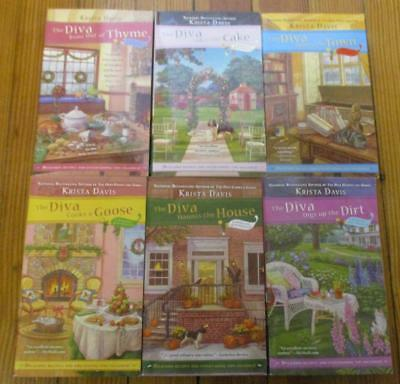 Books #1-#6 of the Domestic Diva Mystery Series by Krista Davis (lot of 6 books)