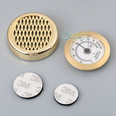 US Round Smoking Tobacco Hygrometer + Cigar Humidifier for Cigar Humidors