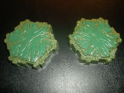 2 SWAMP TILES (1 hex) from Heroscape Swarm of the Marro Master Set