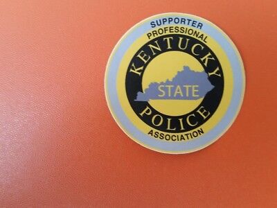 Kentucky State  Police   professional supporter association window  sticker