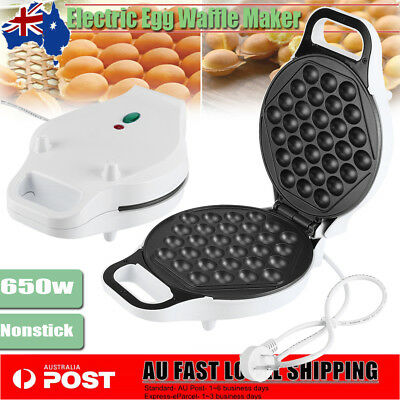 AU Electric Nonstick-coated Waffle Maker Bubble Egg Cake Oven 640W Baker Machine