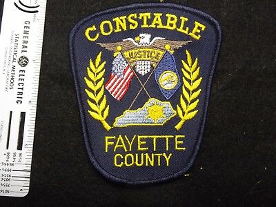 Kentucky Fayette County Constable police patch rare small agency HTF