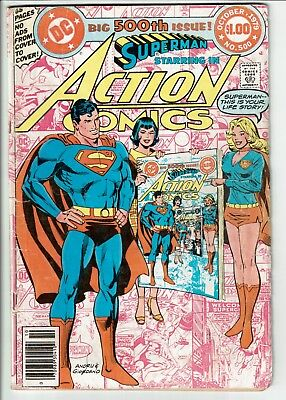 Action Comics #500 Superman (Oct. 1979) DC VG Cond. Free Shipping