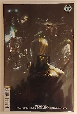 Deathstroke #36 NM Francesco MATTINA cover B variant DC COMICS. HTF!! SOLD OUT!!