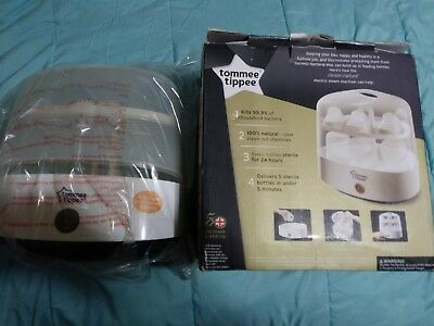 TOMMEE TIPPEE 5 BOTTLE ELECTRIC STEAM STERILIZER New