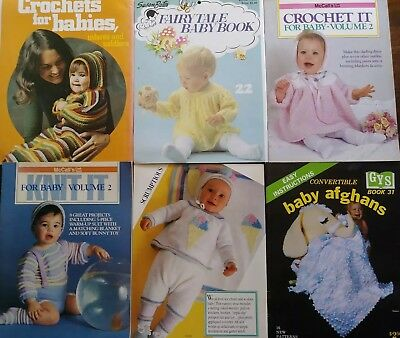 Rare Vintage Knitting Crochet Pattern Books For Babies Infants