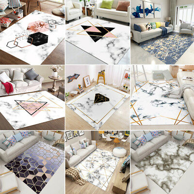 Marble Style Geometry Rugs Anti-Skid Area Rug Dining Room Home Carpet Floor Mat