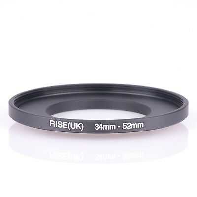 34mm-52mm Step Up Ring 34-52 DSLR Camera / 34mm Lens to 52mm Filter Cap Hood acc