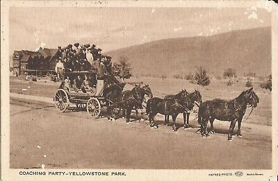 Yellowstone National Park - Coaching Party - 1907 -  Sepia