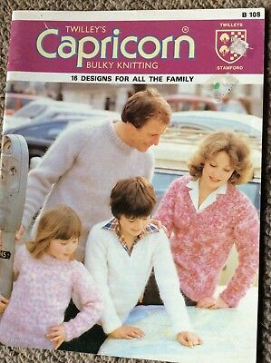 Vintage Twilleys Capricorn Knitting Pattern Book B108 16 Designs for the Family