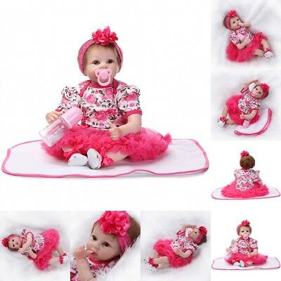 22inch Vinyl Silicone Reborn Doll Real Life Like Looking Newborn Baby Dolls Gift