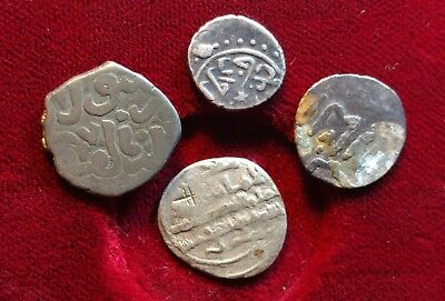 Lot Of 4 Silver Islamic Medieval Coins  //566