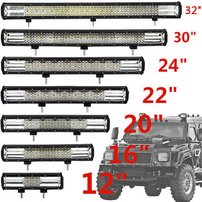32''/24''/12'' 1296W Quad-row LED Arbeitsscheinwerfer Combo Truck Offroad 4WD